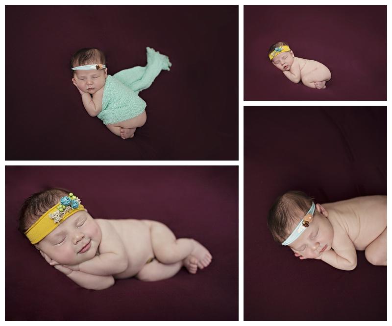 Newborn purple and aqua