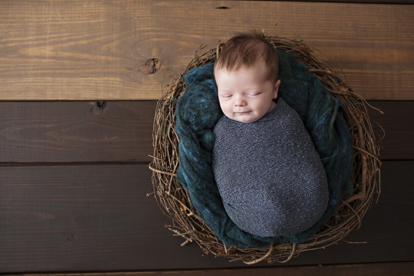 little boy in nest at tampa studio